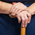 senior · mãos · caminhada · vara - foto stock © photobac