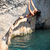 kadın · kaya · duvar · uygunluk · ayakta · kaya · tırmanışı - stok fotoğraf © photobac