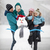 sneeuwpop · paar · illustratie · familie · sneeuw · winter - stockfoto © photobac