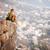 座って · 崖 · 美人 · ビーチ · 女性 · 少女 - ストックフォト © photobac