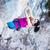 genç · kadın · kaya · yüz · uçurum · derin - stok fotoğraf © photobac