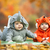Two baby boys dressed in animal costumes stock photo © photobac