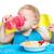 ребенка · пить · воды · продовольствие · детей · глаза - Сток-фото © photobac