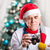 senior man taking photo on christmas background stock photo © photobac