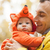 young man and his little son in fox costume stock photo © photobac