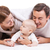 young family with baby boy over white background stock photo © photobac