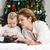 anya · gyermek · karácsonyfa · segít · kicsi · fiú - stock fotó © photobac