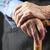 senior · handen · houten · lopen · stick - stockfoto © photobac
