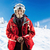 Senior woman wearing ski jacket on snowy slope stock photo © photobac