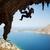 wspinaczki · kobieta · sylwetka · niebo · ściany · górskich - zdjęcia stock © photobac