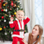baby · kostuum · christmas · gelukkig · woonkamer - stockfoto © photobac