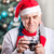 senior man taking photo on christmas background stock photo © photobac