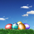 Colored Easter eggs in grass  stock photo © photochecker