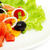 plantaardige · salade · zalm · geïsoleerd · witte · focus - stockfoto © Photocrea