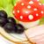 engraçado · comida · cogumelo · ovo · tomates · maionese - foto stock © Photocrea