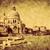venice italy grand canal and basilica santa maria della salute vintage stock photo © photocreo