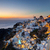 panorámakép · kilátás · naplemente · Santorini · város · nap - stock fotó © photocreo