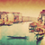 vintage painting of venice italy gondola floats on grand canal stock photo © photocreo