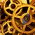 Cog · ruedas · grande · motor · azul · trabajo - foto stock © photocreo