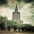 palácio · cultura · ciência · Varsóvia · Polônia · retro - foto stock © photocreo