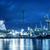 silhuetas · nublado · céu · trabalhar · navio · industrial - foto stock © photocreo