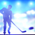 hockey player shooting on goal in arena night lights stock photo © photocreo