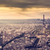 ヴィンテージ · エッフェル塔 · 画像 · パリ · 空 · 光 - ストックフォト © photocreo