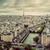 paris france panorama with eiffel tower seine river and bridges vintage stock photo © photocreo