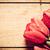 新鮮な · 赤 · チューリップ · 花 · 花束 · 木材 - ストックフォト © photocreo