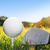 pallina · da · golf · erba · cielo · blu · sport · natura · panorama - foto d'archivio © photocreo