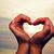 silhouet · handen · vorm · hart · vrouw · hand - stockfoto © photocreo