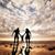 família · feliz · juntos · pais · pequeno · criança · pôr · do · sol - foto stock © photocreo