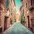 narrow street in an old italian town of pienza tuscany italy vintage stock photo © photocreo