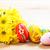 arte · easter · eggs · fiori · di · primavera · legno · blu - foto d'archivio © photocreo