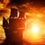 kalóz · hajó · naplemente · díszlet · égbolt · víz - stock fotó © photocreo