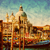venice italy gondola jetty next to santa maria della salute vintage stock photo © photocreo