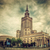 the palace of culture and science warsaw poland retro vintage stock photo © photocreo