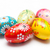 hand painted easter eggs on white spring patterns art unique stock photo © photocreo
