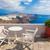 Санторини · кафе · лет · острове · Греция · воды - Сток-фото © photocreo