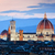 florence italy sunset skyline cathedral of saint mary of the flowers vintage stock photo © photocreo