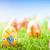 sanat · paskalya · yumurtası · dekore · edilmiş · çiçekler · çim · mavi · gökyüzü - stok fotoğraf © photocreo