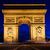 arc de triomphe at night paris france stock photo © photocreo