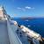 santorini · vulcão · navios · Grécia · retro · céu - foto stock © photocreo