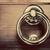 antique golden door knocker on wooden door vintage background stock photo © photocreo
