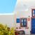 traditional greek house with blue door and windows santorini greece stock photo © photocreo