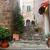 romantic narrow street and stairs in montepulciano tuscany italy stock photo © photocreo