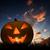 halloween · cartão · postal · abóbora · árvore · olho · grama - foto stock © photocreo