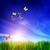 vuelo · gaviota · cielo · azul · fondo · cielo · agua - foto stock © photocreo