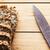 saboroso · saudável · pão · dois · fatias · manteiga · de · amendoim - foto stock © photocreo