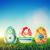 művészet · húsvét · fű · húsvéti · tojások · fa · boldog - stock fotó © photocreo